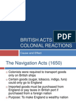 British Taxes on the Colonies
