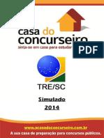 Simulado TRE SC 2014 1