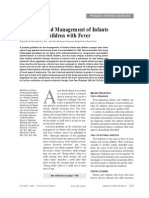 Management and evaluation for fever in infant