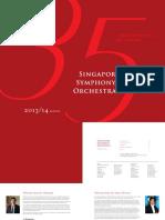 Singapore Symphony Orchestra 2013-2014 Season