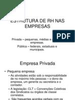Estrutura de Rh Nas Empresas