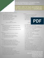 Programa del Foro de Análisis Sobre Leyes Secundarias en Materia de Telecomunicaciones y Radiodifusión (2, 3 y 4 de abril 2014)