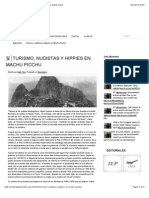 Turismo, Nudistas y Hippies en Machu Picchu | Historia Global Online