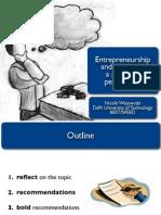 Enterpreneurship and Creativity, student's perspective