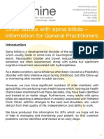 Older Adults Wth Spina Bifida - Information for GPs