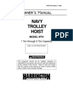 Navy Trolley Hoist