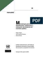Ilpes - Metodologia de Identificacion Preparacion y Evaluacion de PIP