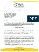 Cause of Action FOIA Appeal to GSA re: White House Equities