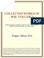 Edgar Allan Poe-Collected Works of Poe, Volume I (Webster's Thesaurus Edition) (2006)