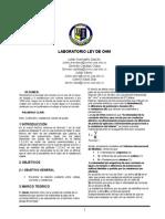Cuarto Informe Ley de Ohm