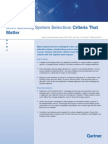 Core Banking Selection Criteria