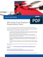 IRS Issues Final Employer Shared Responsibility Rules