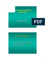 Introduction to Manufacturing Methods