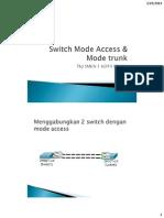 4. Materi Lab Switch Mode Access & Mode Trunk
