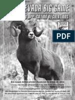 2014 Nevada Big Game Seasons and Application Regulations