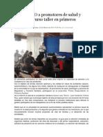 23-03-14 nss Imparte SSO a promotores de salud y psicología curso taller en primeros auxilios