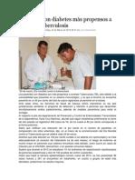 23-03-14 nss Pacientes con diabetes más propensos a contraer tuberculosis