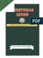 Presbyterian Review - September_December, 2013