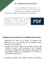 Medición y Tabulacion de los Datos