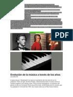 Las Evoluciones de La Musica