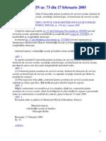 ORDIN Nr.73-2005 - Contract Serv Soc