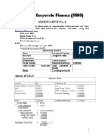 Corporate Finance COL MBA 5585 Assignment 1