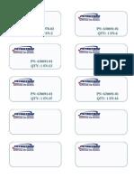 Petrotrim Shipping Labels 2x4x10