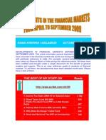 FINANCIAL MARKETS DEVELOPMENTS BETWEEN APRIL AND SEPTEMBER 2009-VRK100-25102009