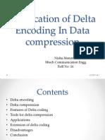 Delta Encoding in Data Compression