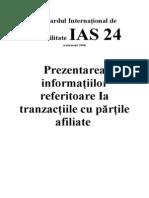 Standardul International de Contabilitate IAS 24