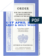 ORDO 2013/2014 Order for celebrations in April (Lent & Holy Week)