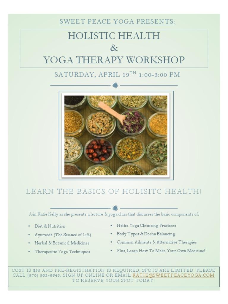 Holistic Health & Yoga Therapy Workshop