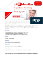 DTecH IT Education - Oracle DBA Training Institute in Bangalore