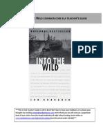 Into the Wild  Common Core ELA Teacher's Guide