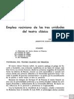 Empleo Raciniano de Las Tres Unidades Del Teatro Clasico