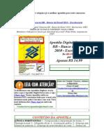 Apostila Digital Concurso Banco Do Brasil 2010 Escriturario