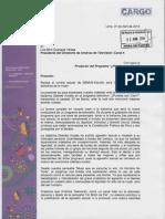 Carta remitida al Directorio de AméricaTelevisión