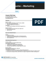 Marketing Resume- Sample
