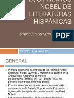 Los premios nobel de literaturas hispánicas