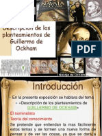Descripción de los planteamientos de Guillermo de Ockham @PattieMendozaa