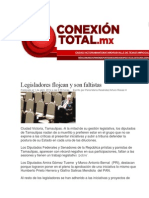 01-04-2014 Conexión Total.mx  - Legisladores flojean y son faltistas.