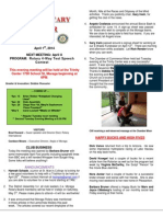 Moraga Rotary Newsletter- April 1, 2014