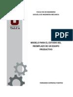 4-Modelo Para El Estudio Del Reemplazo de Un Equipo