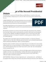 Transcript of the Second Presidential Debate in Hempstead, N.Y. - NYTimes