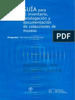 Guia Para Inventario Catalogacion y Documentacion