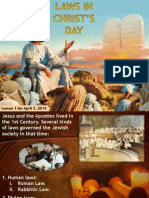 2nd Quarter 2014 Lesson 1 Laws in Christ's Day Powerpoint Presentation