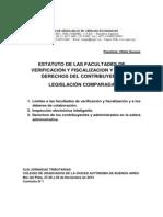 Com Nº 1 - SEOANE OFELIA - Estatuto de las facultades de verificación y fiscalización...