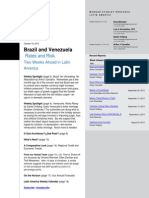 Brazil and Venezuela Rates and Risk