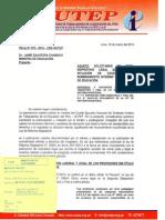 Oficio N° 075-2014 CEN SUTEP