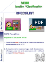 5S Checklist SEIRI